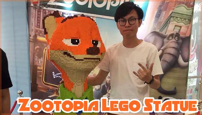 ズートピアのニックを再現した160万円相当の巨大LEGOが公開後に破壊される