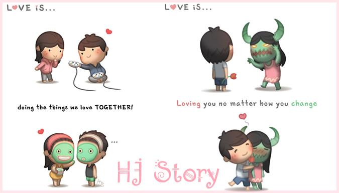 韓国のアーティストによる妻への愛をテーマにした素敵なイラスト作品