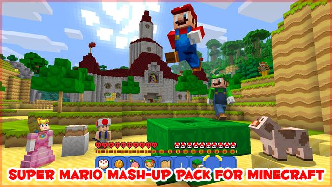 WiiU版「マインクラフト」にスーパーマリオの無料パックが登場!