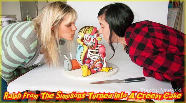 シンプソンズのラルフを解剖した奇妙なケーキが登場!