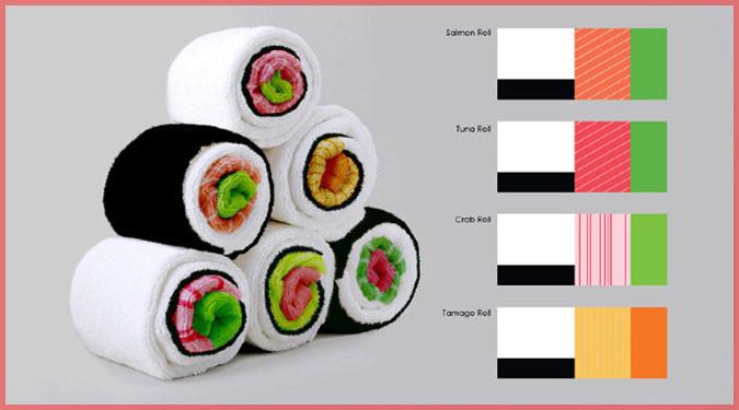 イスラエルのデザイナーが作った可愛い巻き寿司タオル