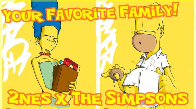 シンプソンズファミリーのクールなイラストシリーズ!