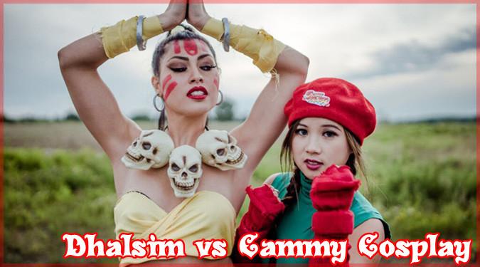 二人の海外レイヤーさんによる女性版ダルシムとキャミィのコスプレ!